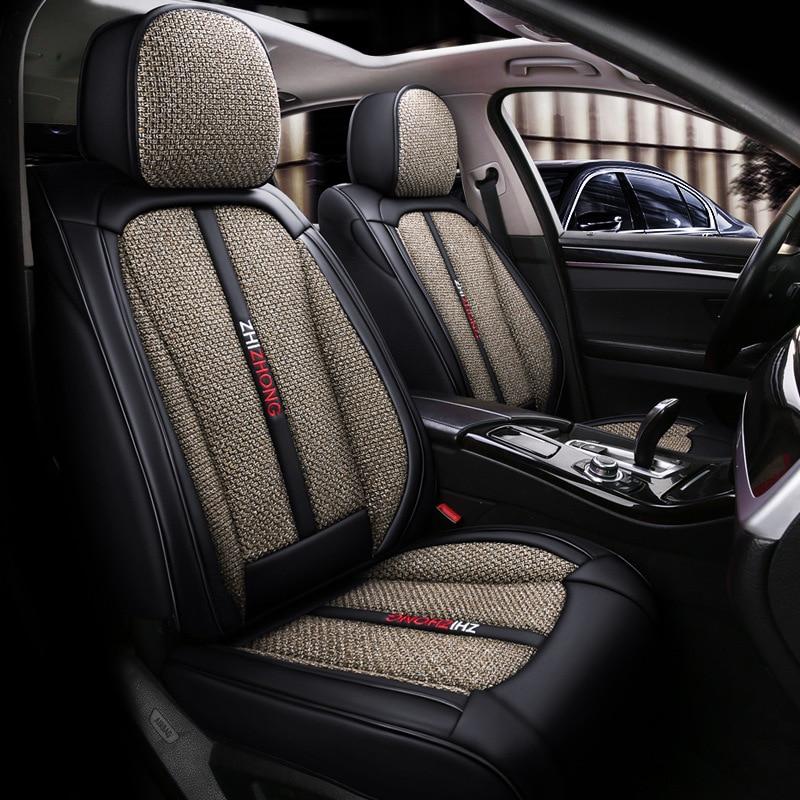 Cool Car zuo dian wang Rosso delle Donne di Quattro Stagioni Universale All Circondato Cuoio della Canapa Copertura di Sede Sede Carino cuscino Auto - 2