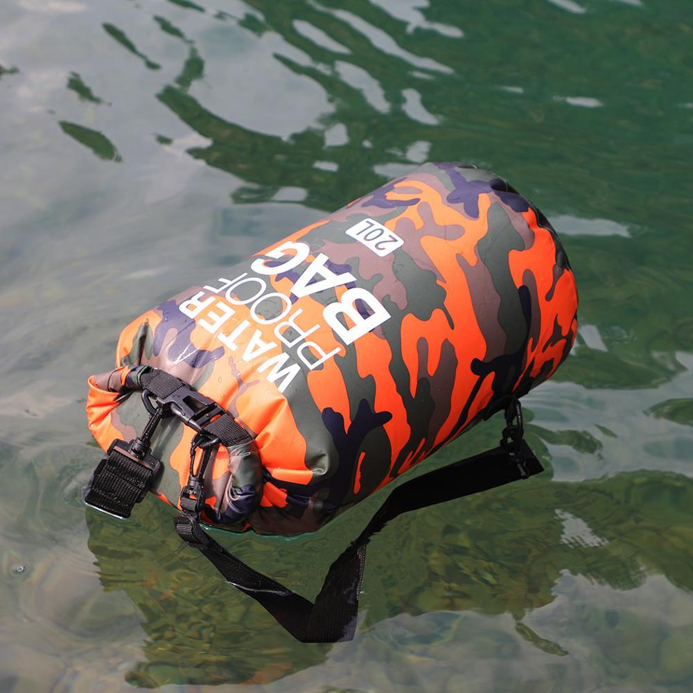 На открытом воздухе сумка Камуфляж Портативный Дайвинг рафтинг сухой мешок ПВХ Водонепроницаемый складная сумка для хранения плавательны...