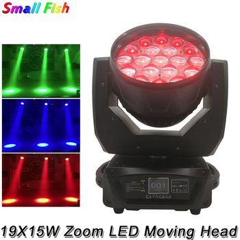 New Arrival 19X15W RGBW Zoom Circle Control LED Moving Head Light DMX512 Stage Spotlight Disco DJ Party Moving Head Beam Light exponentially weighted moving average control chart