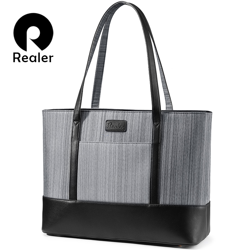 REALER Women Handbag For Suitcase Women Bags For Business Trips Large Tote Bag Female Top-handle Shoulder Bag For Offfice/work