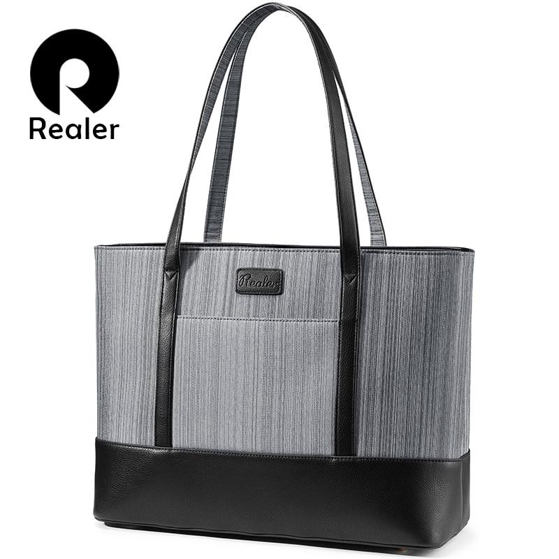 REALER Women Handbag For Suitcase Women Bags For Business Trips Large Tote Bag Female Top-handle Shoulder Bag For Offfice/work