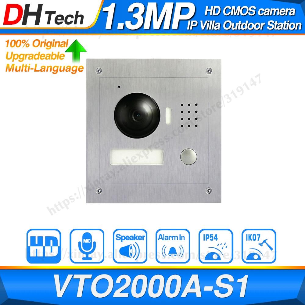 Dahua Original VTO2000A-S1 Video Door Bell POE Metal IP Villa Outdoor Station Video Intercom Night Vision Replace DH-VTO2000A