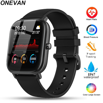 P8 men women electronic blood pressure measurement heart rate monitor full touch screen Bluetooth smart watch for Amazfit Gts