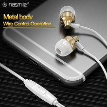 Écouteurs intra auriculaires avec fil, son volumineux, basse stéréo, oreillettes hi fi en métal, avec micro, 3.5MM, pour téléphones iphone, Samsung, Huawei
