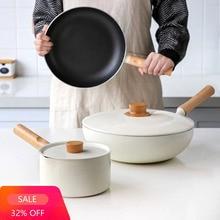 Pan Induction-Cooker Enamel for Baby Foodcookware-Set Salad-Bowl Supplement Milk-Pan