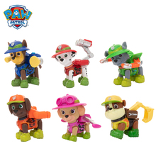 6Pcs/set Paw Patrol Jungle Rescue Dog Cartoon Model Everest  Patrol Pups Anime Action Figure Toy Child Birthday Xmas Gift