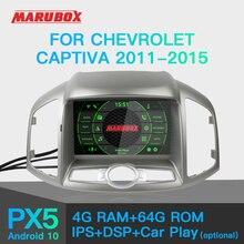 Auto audio do rádio do carro do andróide 10 dos multimédios do carro de marubox para chevrolet captiva 2011 2015 8 núcleos 4g 64g com dvd kd8406