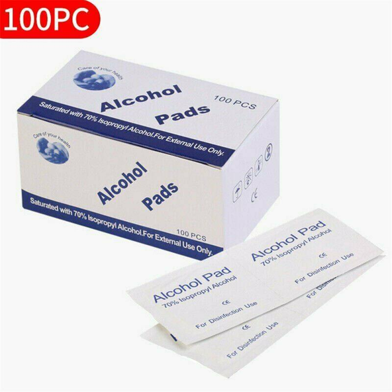 100 PCS 75% Alcohol Wet Wipes Portable Alcohol Prep Pads Swab Disinfection Wipes For Car Home Deep Cleaning Health Care TSLM1
