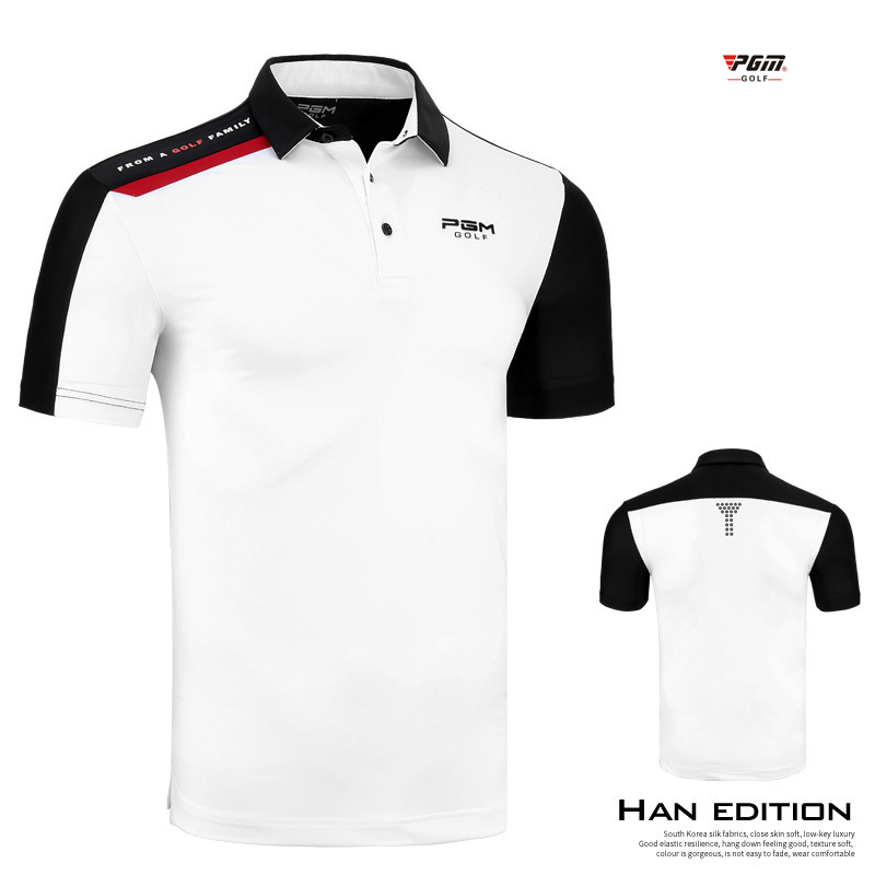 New Summer Golf Wear Clothing Apparel Men shirt Competition Sports Ball Suit Breathable Warm Short Sleeve Trainning T Shirt PGM