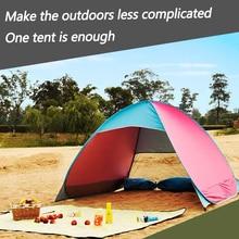 Tienda de campaña ultraligera plegable, carpa abierta automática, para turista familiar, pescado, Camping, Anti UV, parasol completo