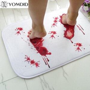 Кровяный половик с рисунком следов, коврик для ванной, водный, не поглощение скольжения, новый и высококачественный коврик для ванной, кухон...