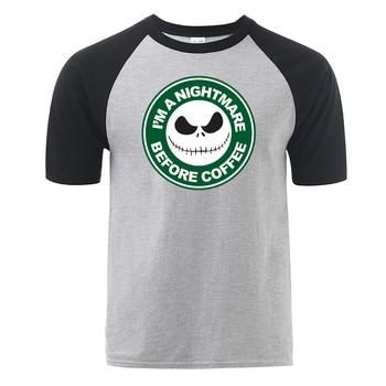I Am A Nightmare Before Coffee Jack T Shirt Funny Shirt 2019 New Arrival Hip Hop Style Summer Cotton Raglan Men Fitness T-shirt