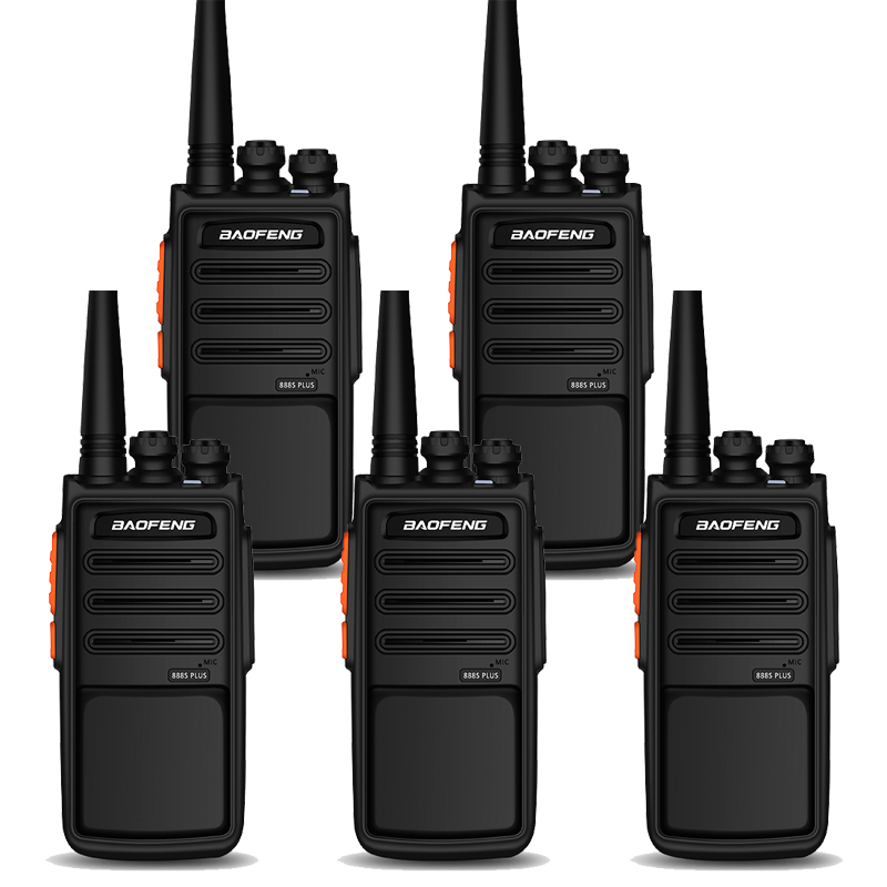 Wholesale 5Pcs BaoFeng Walkie Talkie Radio BF-888S Plus  With Larger Battery And Clearer Voice  16CH Long Range Two Way Radio