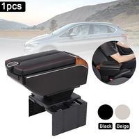 Universal caixa de armazenamento de carro caixa de apoio de braço acessórios de modificação multi-função largura ajustável organizador de mão central