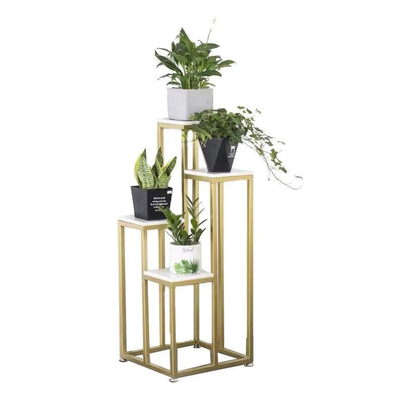 Nordic Multilayer Metal Stand For Plants Contracted Ground Flower Stand Garden Furniture Plant Rack  Flower Stand Plant Rack