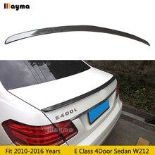 цена на AMG style Carbon fiber Rear wing spoiler For Benz E class 4Door Sedan E200 E260 E320 E400 W212 2010-2016 year car rear spoiler