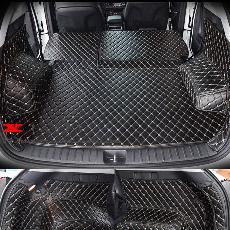 Автомобильные дорожные фирменные специальные коврики для багажника Hyundai Tucson, прочные водонепроницаемые ковры для ботинок, грузовой лайнер ...