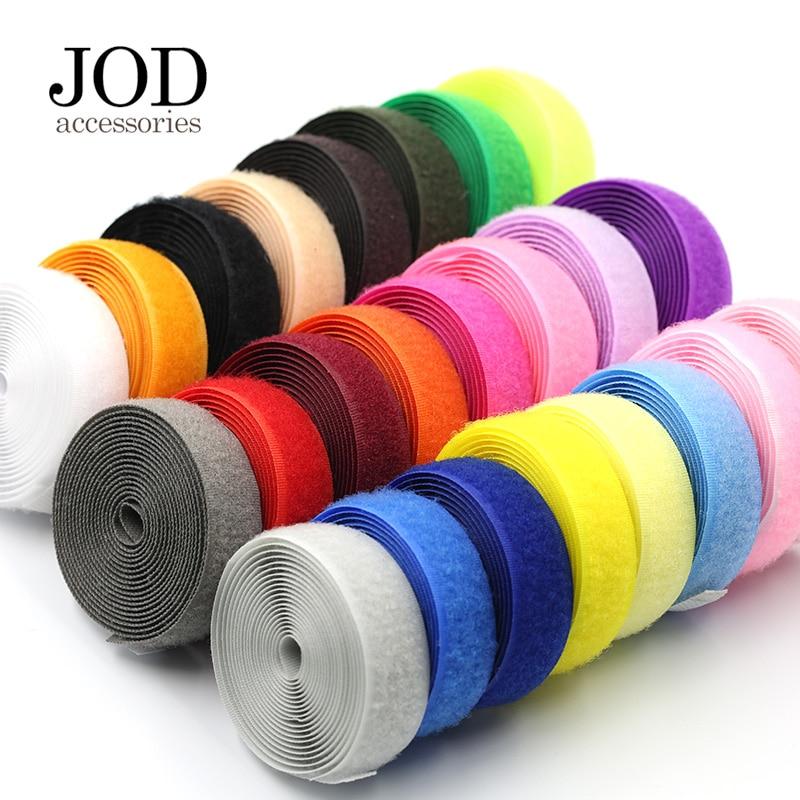 2Meter*2cm DIY Hook and Loop No Adhesive Fastener Tape Nylon Button Sewing Garment Bags DIY Magic Klitband Patch velcros JODb(China)