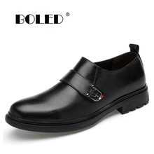 Breathable Plus Size Dress Shoes Men Genuine Leather Wedding Shoes Oxford Formal Business Flats Shoes Dropshipping plus size 34 43 genuine leather women shoes fashion leisure spring pointy bling rhinestone flats shoes patent leather crystal