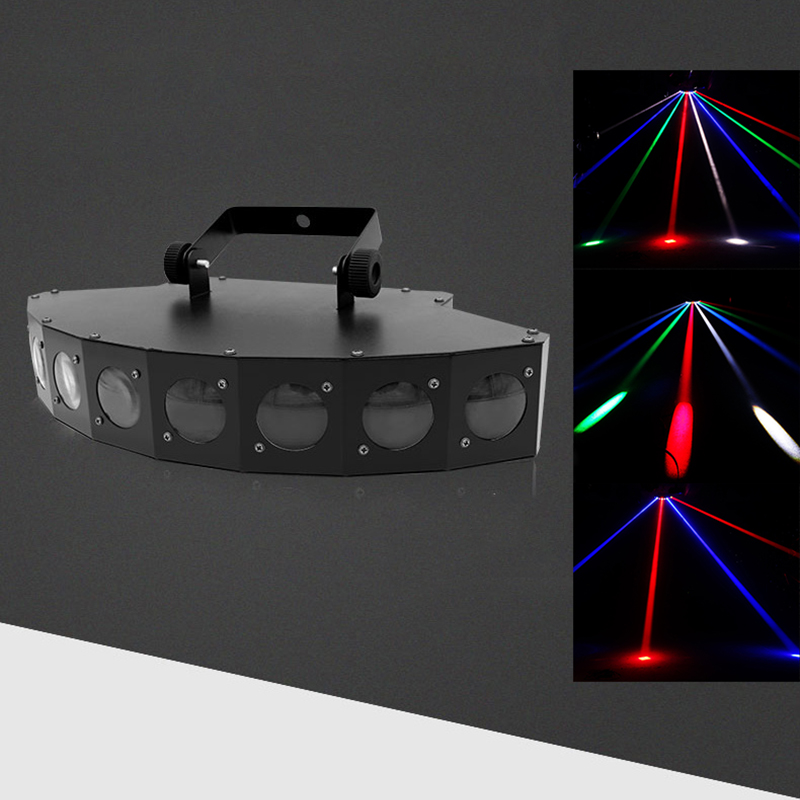 DMX led disco beam light 90-240V eight eyes party lights professional 8 lens beam stage lighting colorful laser projector