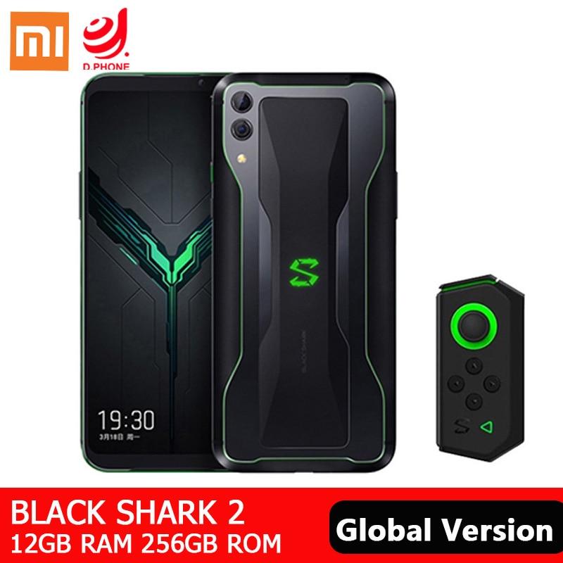 Versión Global Xiaomi negro tiburón 2 12GB 256GB juegos Smartphone Snapdragon 855 48MP cámara trasera 4000mAh 6,39