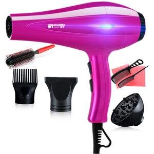 Электрический Professional фен для парикмахера 3200 низкий уровень шума равномерно горячий ветер дорожные Фены для волос 220 в компактный фен