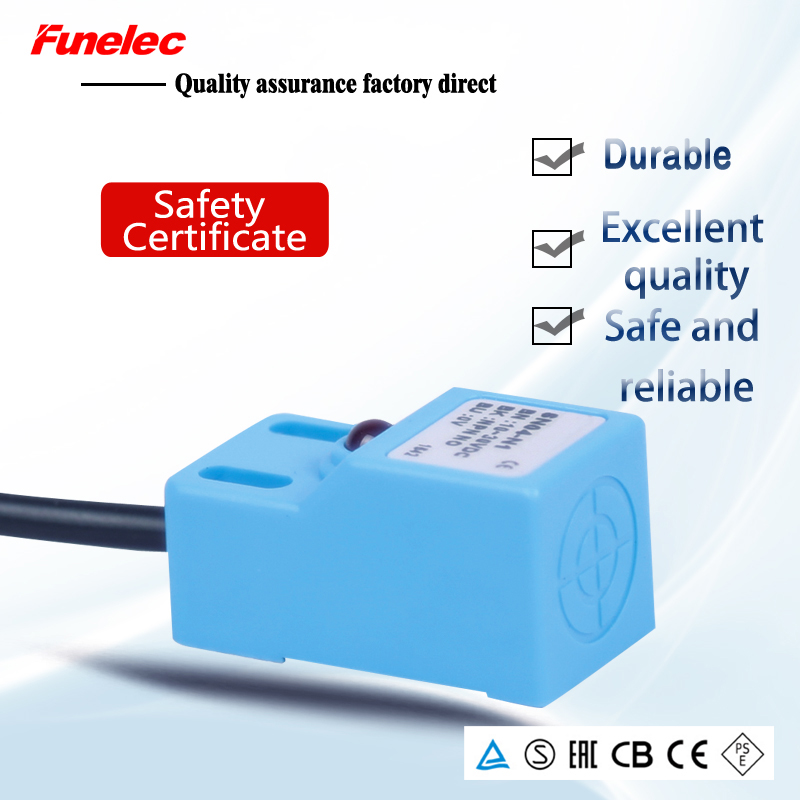 SN04 Inductive Proximity Switch Sensor, Square Induction Switch SN04-N SN04-P Three-wire 24V NO(normally Open) Nnormally Closed