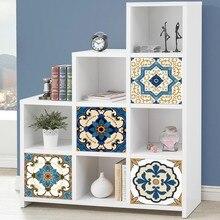 2019 4pcs Moroccan Style Tile Stickers Waterproof Wall Bathroom Art Decor Adhesive PVC Kitchen