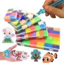 Navulling! Groothandel 5Mm Epoch Kralen Perlen Magic Water Beados Puzzels Speelgoed Educatief Kids Bead 3D Puzzel Craft(China)