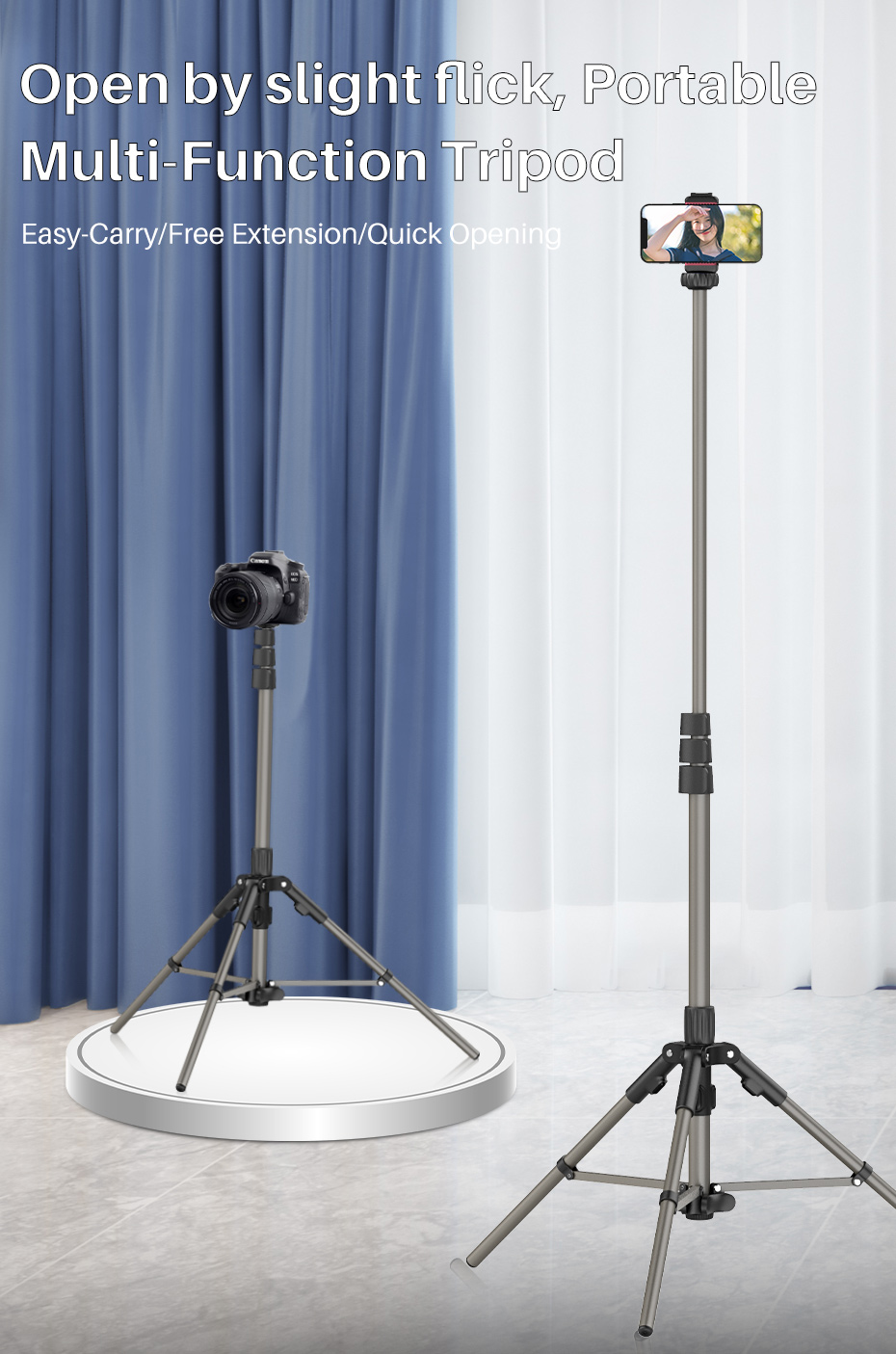 4 stand tripod tripé monopé selfie luz