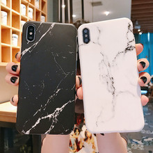 Marble Case on For Coque iphone 7 XS MAX Soft TPU Back Cover 6 6S 8 Plus X XR Phone