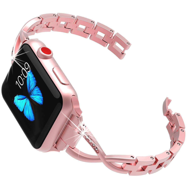 Suitable For Apple Watch Metal Watch Strap IWatch Diamond Set Watch Strap X Alloy Bracelet Watch Strap Factory Wholesale