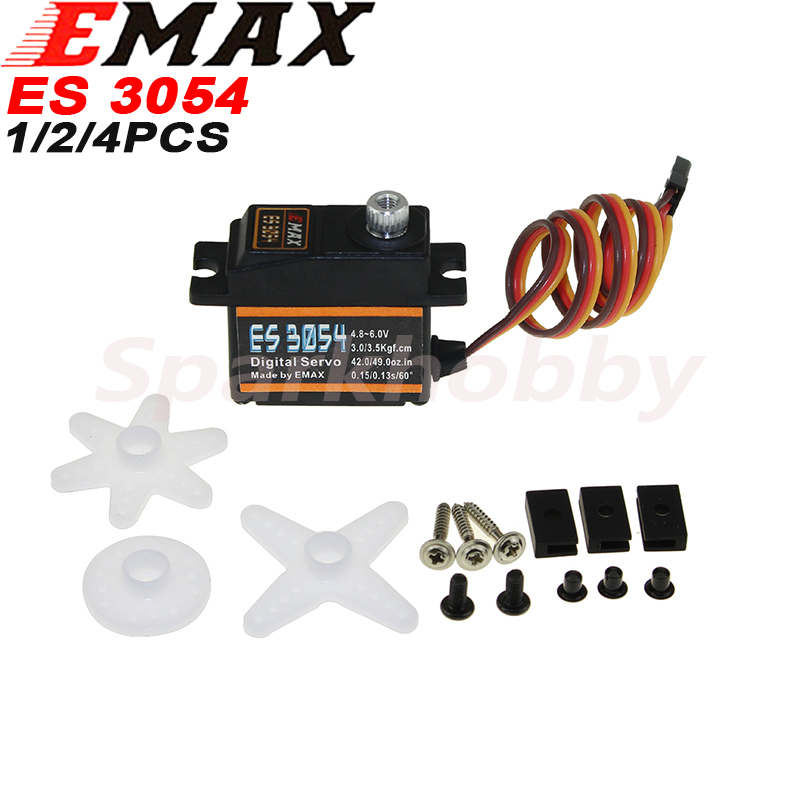 Original EMAX ES3054 Metal Digital Servo 20g Waterproof Servo with Gears for RC Car Helicopter Boat Airplane Parts Accessories image
