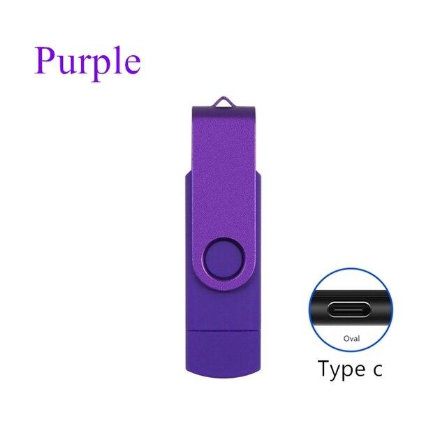 2 in 1 typec usb flash 4GB 16GB 32GB 64GB 128gb  Usb Flash Drive memory stick Pendrive usb flash drive for  type c charge phone 5