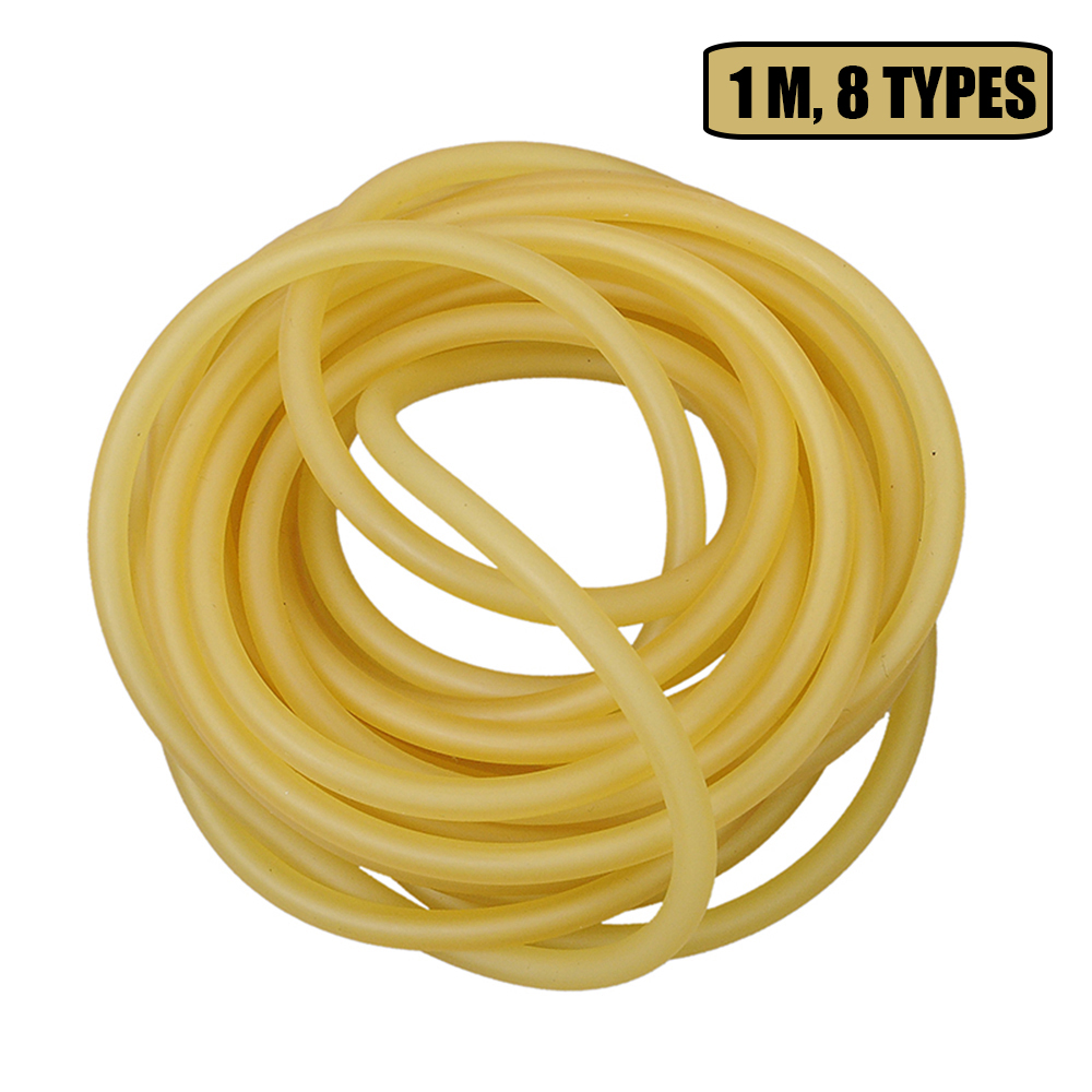 1m Rubber Tube Natural Latex Slingshots Tubing Band For Slingshot Hunting Band Catapults Fitness Yoga Tactical Bow Accessories