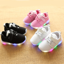 Kid Shoes Children Girls Sneakers LED Light Up Shoe