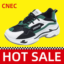 2020 Genuine CNEC Clunky Sneakers Shoes for Women Safety Fashion Brand Casual Sport Running Green Breathable Platform Ladies(China)