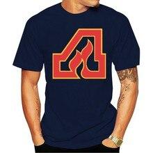 2021atlanta chamas wha hockeyer retro logotipo moda 100% algodão camiseta