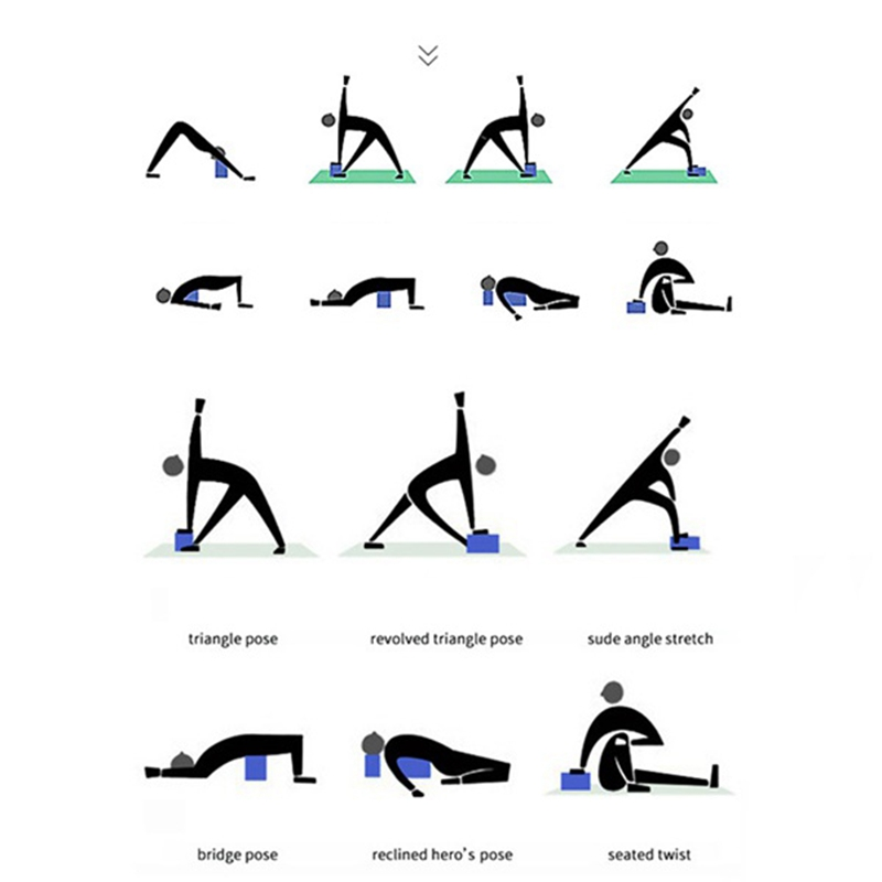 Eva yoga bloco de espuma tijolo alongamento