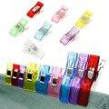 100 pçs/caixa Colcha Clipe Pequenos Clips DIY Artesanato acessórios de Costura de Retalhos Multicolor clipe prendedor de roupa à prova de vento