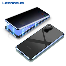 Magnetic Privacy Tempered Glass Case for Samsung Galaxy S20 Ultra Case 360 Full Body Metal Hard Cover For Samsung S20 Plus Shell