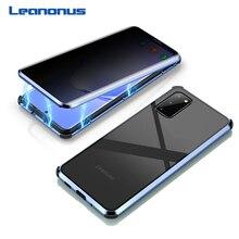 Magnetische Privatsphäre Gehärtetem Glas Fall für Samsung Galaxy S20 Ultra Fall 360 Volle Körper Metall Hard Cover Für Samsung S20 plus Shell