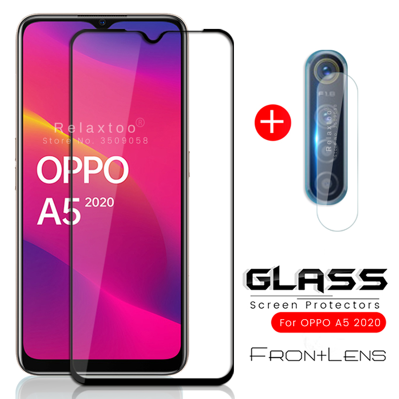 2-in-1 Temper Glass For Oppo A5 2020 Camera Protector For Oppoa5 2020 Phone Sceen A 5 5a 2020 A52020 Armored Steklo  Guard Film