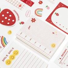 Jolis bloc-notes modèle lapin-fraise ourson Kawaii, papeterie décorative pour journal intime fille, cahier scolaire, faire soi-même, 100 feuilles,
