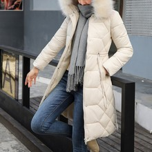 Women Winter Warm Thick Outerwear Hooded Coat Slim Cotton-padded Jacket Female Y829