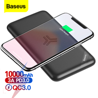 Baseus Qi Wireless Charger Power Bank 10000mAh External Battery 18W Fast Wireless Charging Poverbank For iPhone Samsung Xiaomi