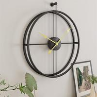 Simple European Mute Wall Clock Creative Modern Design Home Office Decoration Wall Decoration Gifts Black Gold New Arrival
