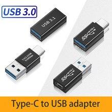 USB Type C USB 3.0 Adaptateur 5 Gbit/S Haute Vitesse Convertisseur USB3.1Gen1 Adaptateur pour Ordinateur Portable Adaptateur OTG Pour Pc Xiaomi Huawei