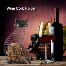 Cat Shape Wine Corks Holder High Quality Metal Cat Wine Stopper Storage Tool For Champagne Bottles Wine Lovers Home Decoration