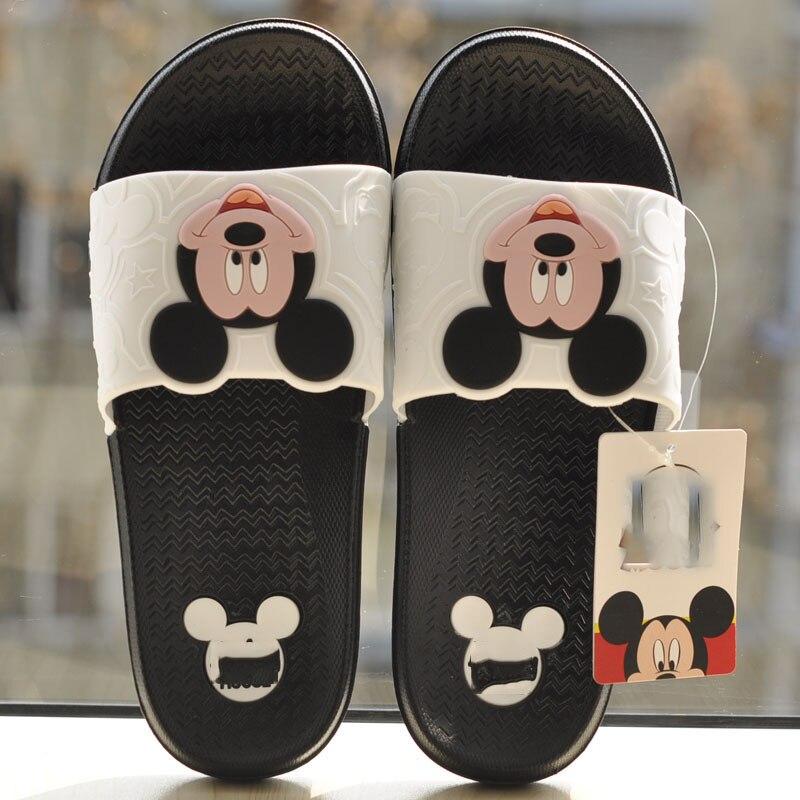 Female Summer Slippers Open Toe Sandals Cute Cartoon Flip Flops Woman Flat Outdoor Casual Shoes Bathroom Slippers Bath Shoes